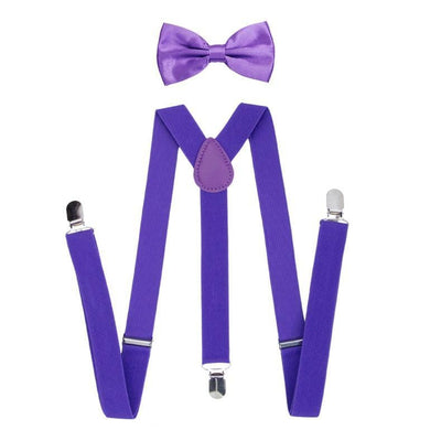 Boys Bow Tie & Suspenders