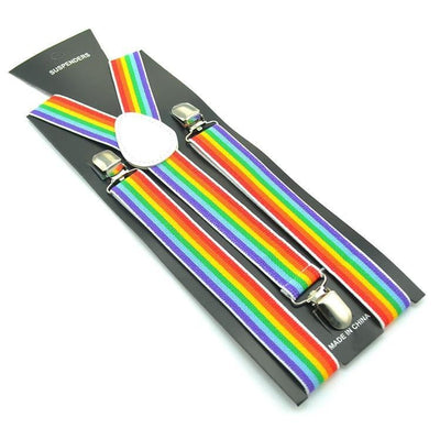 rainbow suspenders packaged