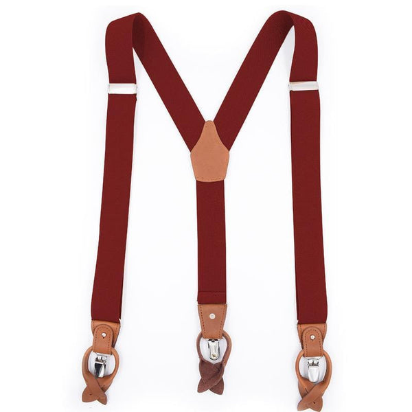 red convertible suspenders