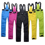 ski pants with suspenders