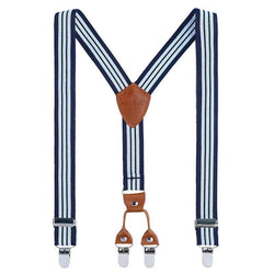 striped blue casual mens suspenders