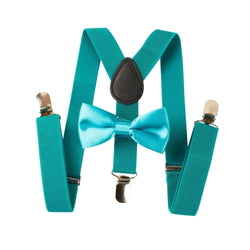 turquoise toddler suspenders