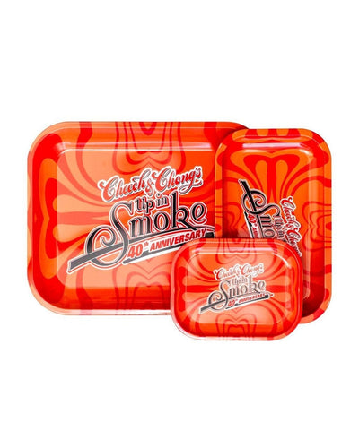 Cheech & Chong's Up in Smoke Red Rolling Tray - SMOKEA
