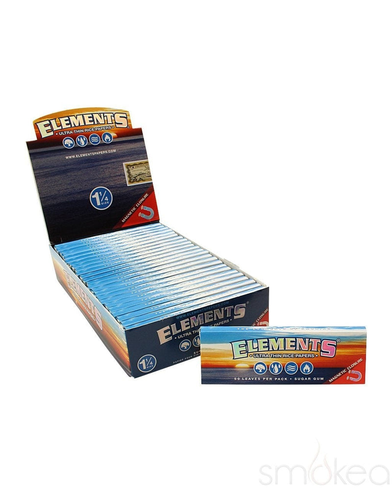 Elements 1 1/4 Ultra Thin Rice Rolling Papers - SMOKEA®