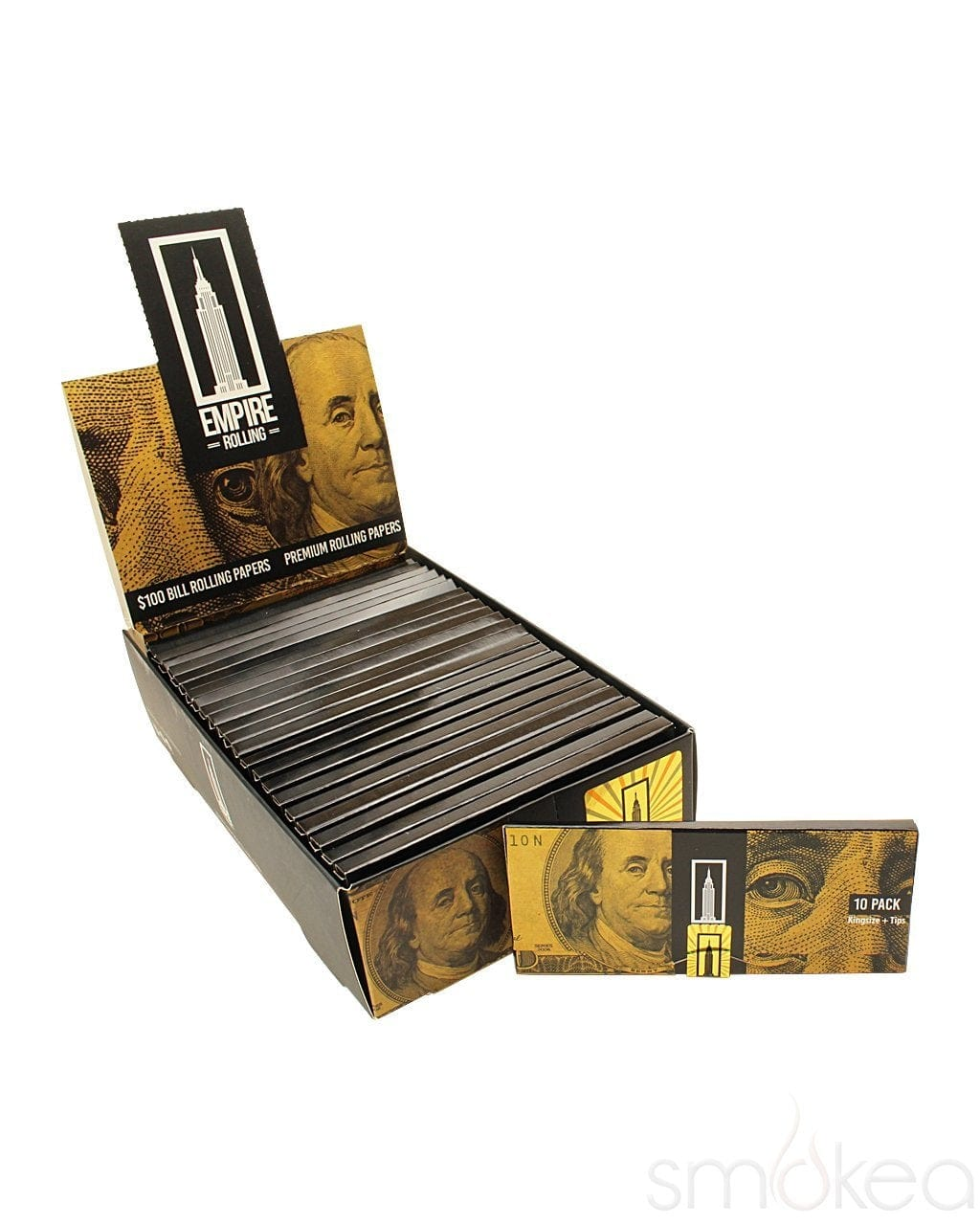 Empire Benny Pack $100 Dollar Bill Rolling Papers w/ Tips - SMOKEA®