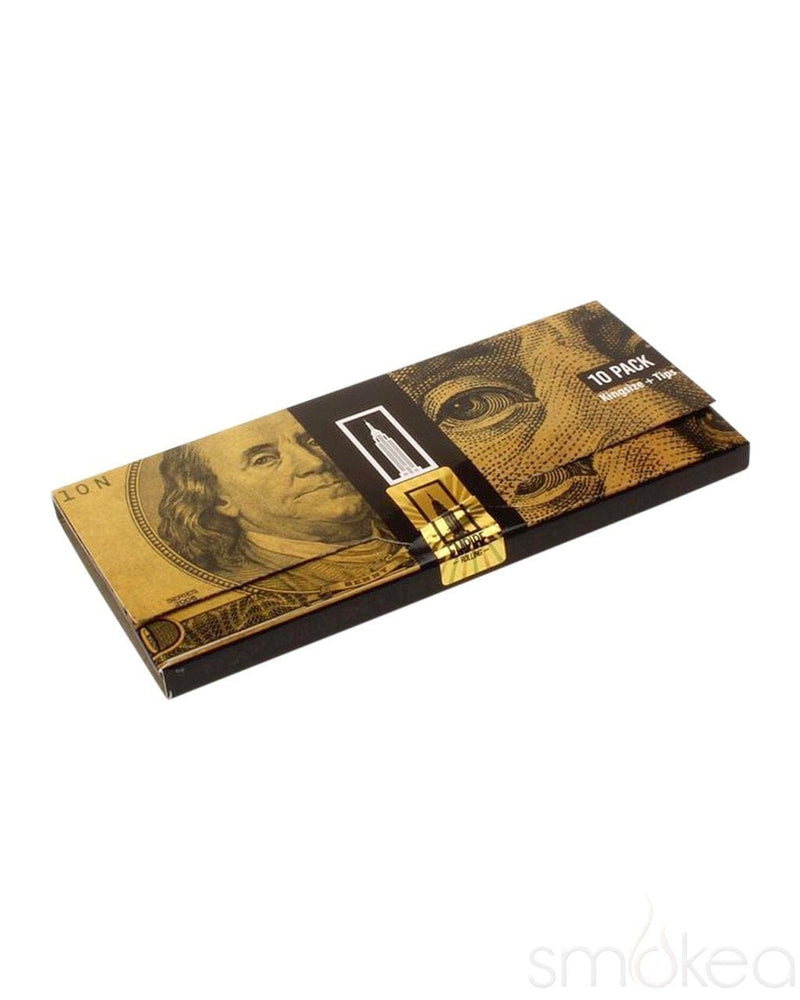 Empire Benny Pack $100 Dollar Bill Rolling Papers w/ Tips - SMOKEA