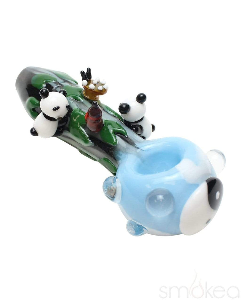 Empire Glassworks Small Climbing Pandas Spoon Pipe - SMOKEA®