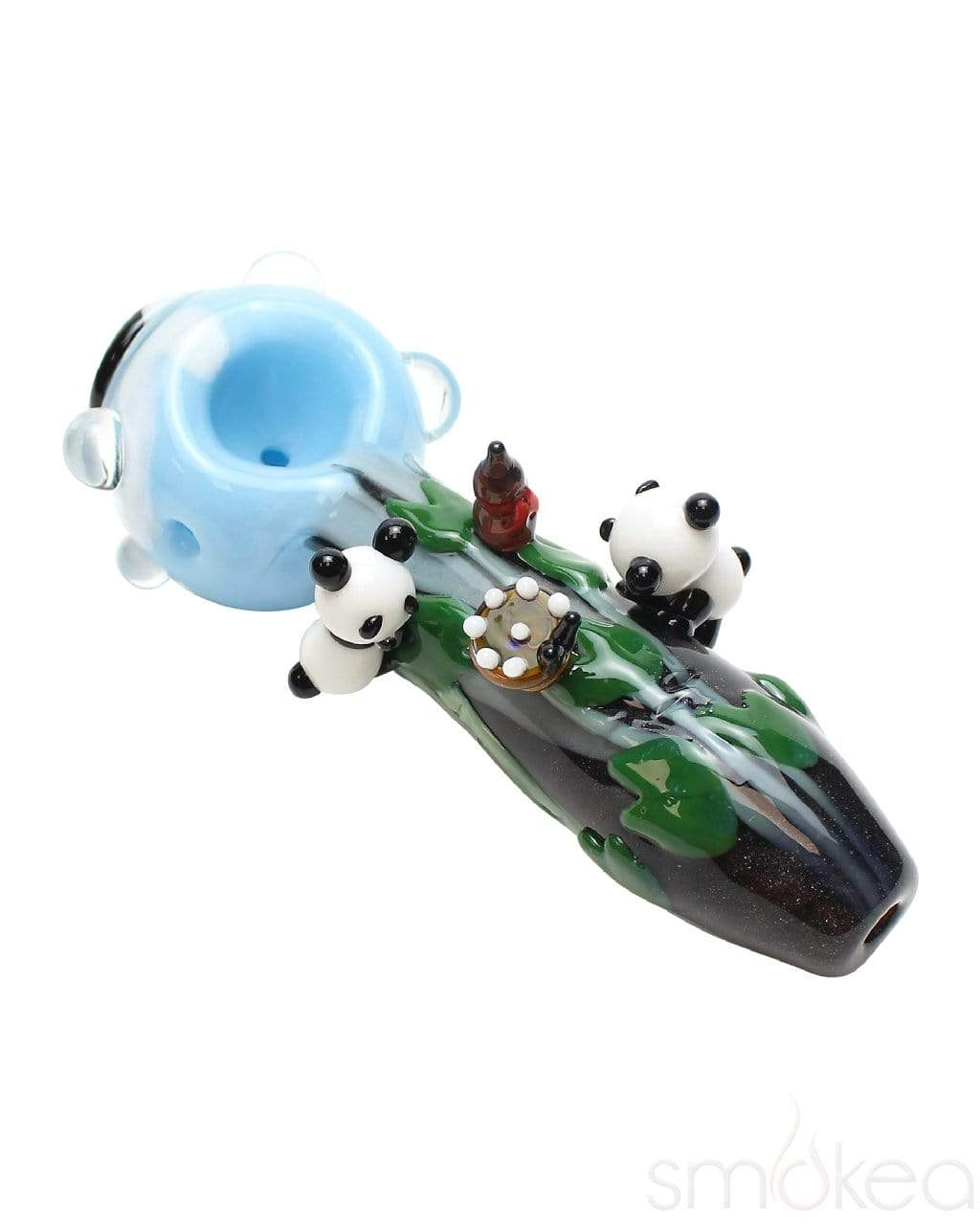 Empire Glassworks Small Climbing Pandas Spoon Pipe - SMOKEA
