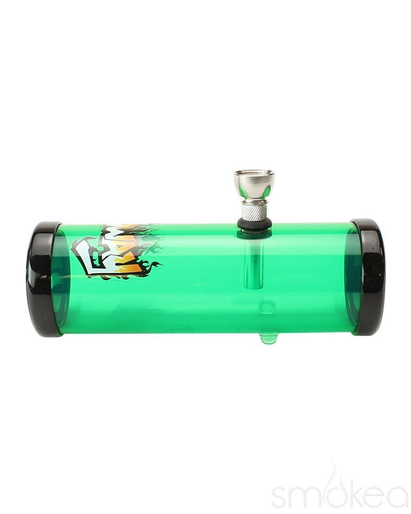 "Headway 6"" Acrylic Steamroller Pipe - SMOKEA"