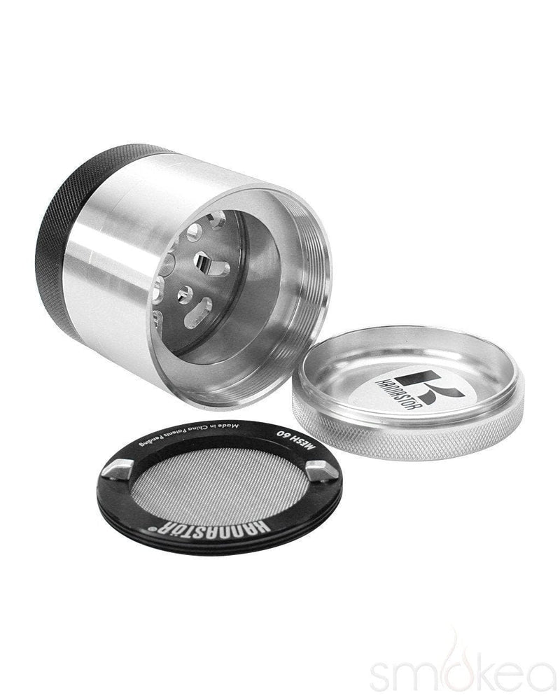 "Kannastor 2.2"" Clear Top 4pc Grinder - SMOKEA"