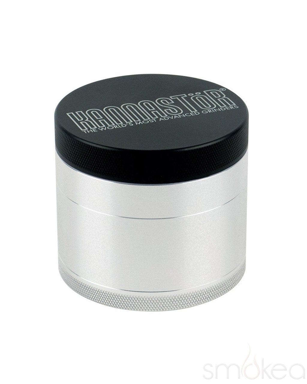 "Kannastor 2.5"" Solid Top 4pc Grinder - SMOKEA"
