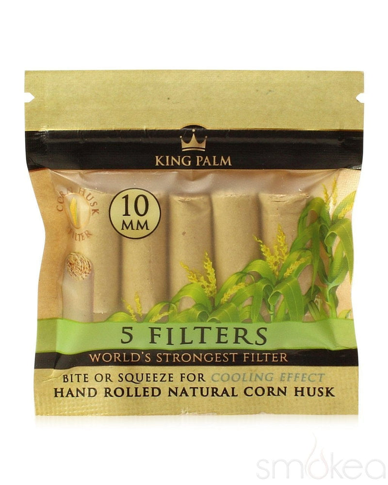 King Palm 10mm Natural Corn Husk Filters (5-Pack) - SMOKEA
