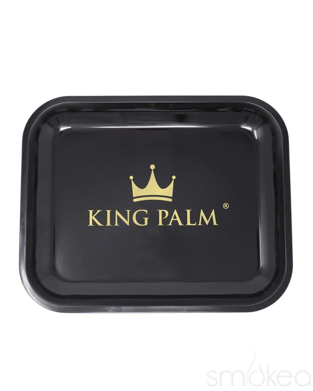 King Palm Black Rolling Tray - SMOKEA