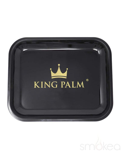 King Palm Black Rolling Tray - SMOKEA®