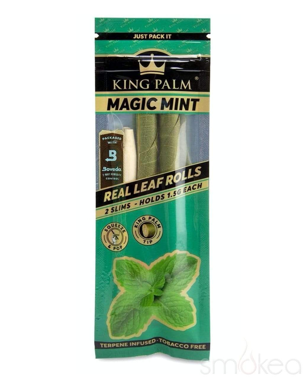 King Palm Slim Magic Mint Pre-Rolled Cones (2-Pack) - SMOKEA