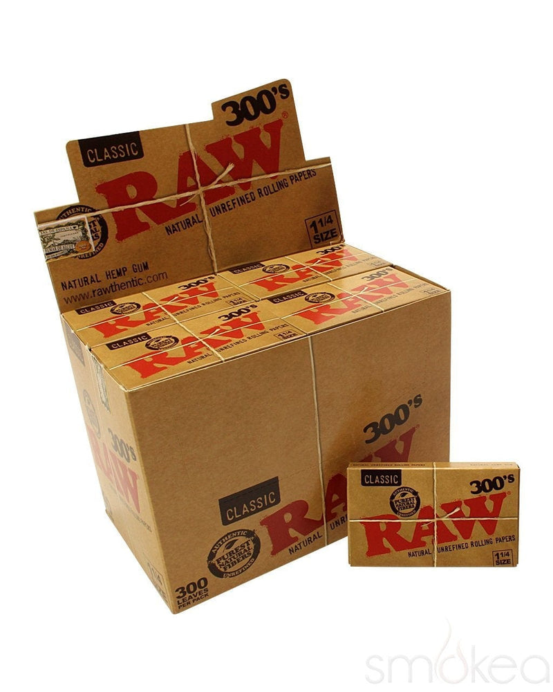 Raw 300's Classic 1 1/4 Rolling Papers - SMOKEA