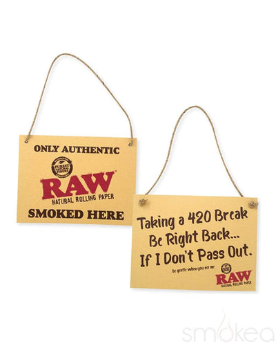 "Raw ""420 Break"" Cardboard Sign"
