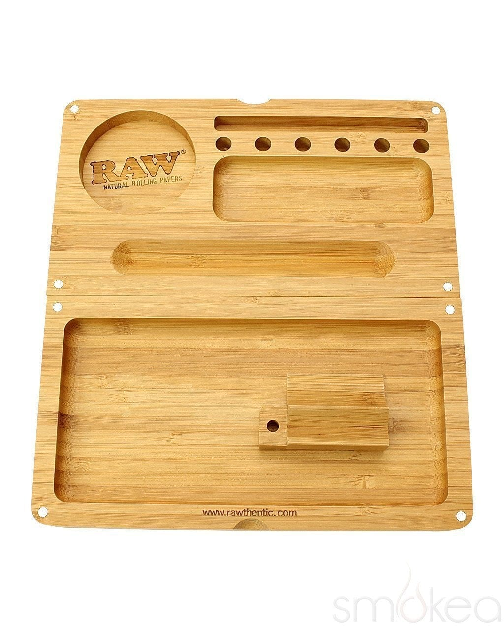 Raw Bamboo Backflip Magnetic Rolling Tray - SMOKEA
