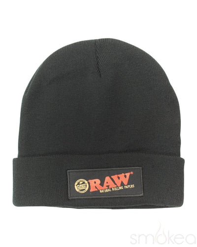 Raw Black Beanie - SMOKEA