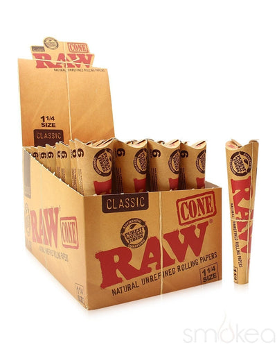 Raw Classic 1 1/4 Pre-Rolled Cones (6-Pack) - SMOKEA®