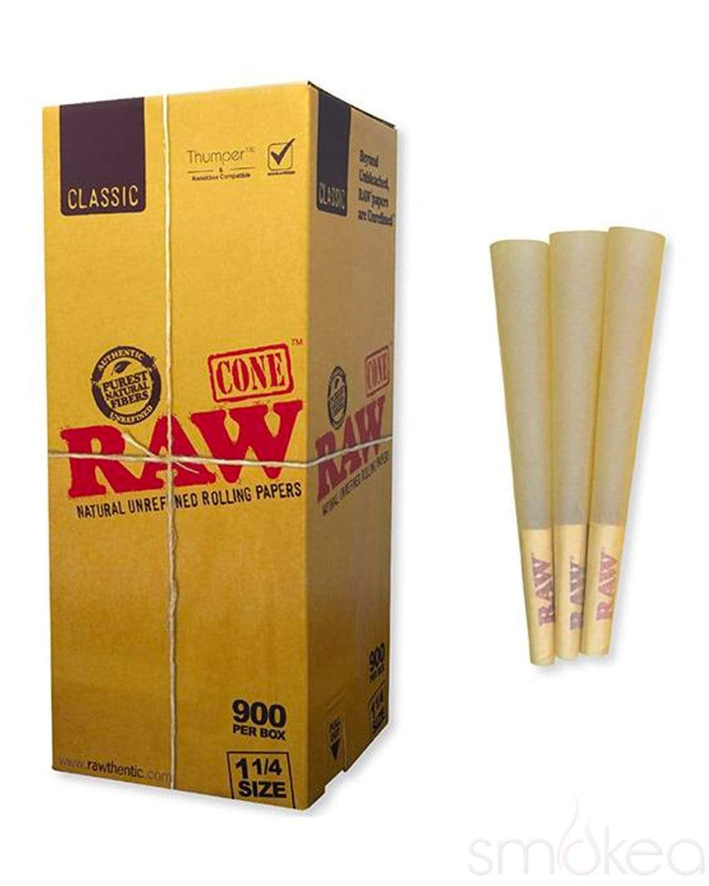 Raw Classic 1 1/4 Pre-Rolled Cones (900-Pack) - SMOKEA