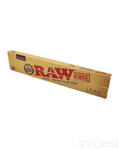Raw Classic Pre-Rolled Lean Cones (20-Pack) - SMOKEA®