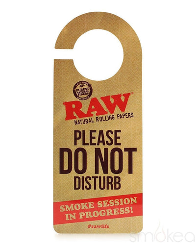 "Raw ""Do Not Disturb"" Door Sign - SMOKEA"