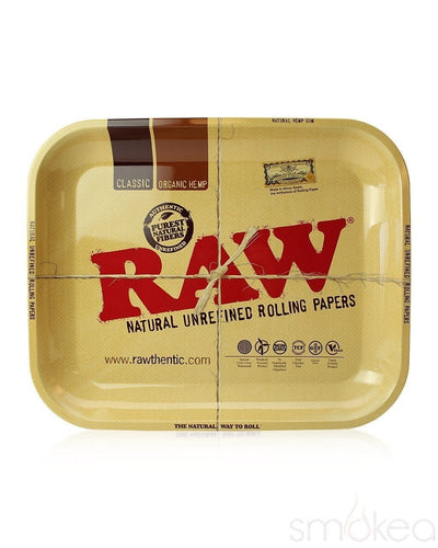 Raw Large Metal Rolling Tray - SMOKEA