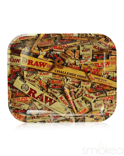 Raw Mixed Papers Large Rolling Tray - SMOKEA