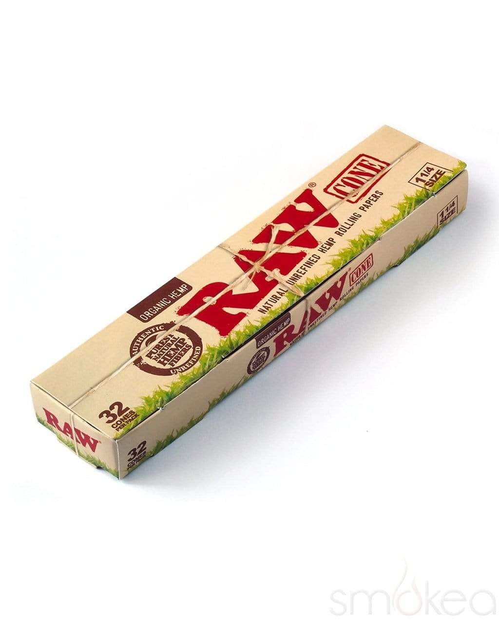 Raw Organic 1 1/4 Pre-Rolled Cones (32-Pack) - SMOKEA
