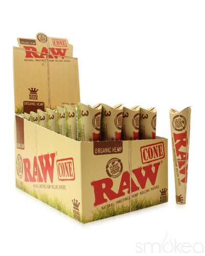 Raw Organic King Size Pre-Rolled Cones (3-Pack) - SMOKEA
