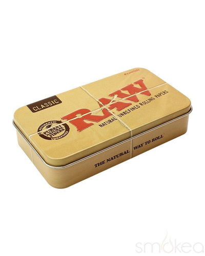 Raw Rectangle Pop Top Metal Tin - SMOKEA