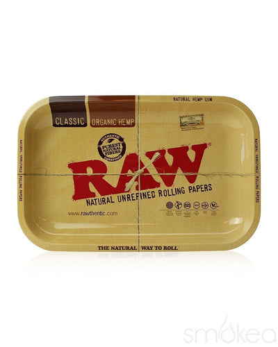 Raw Small Metal Rolling Tray - SMOKEA