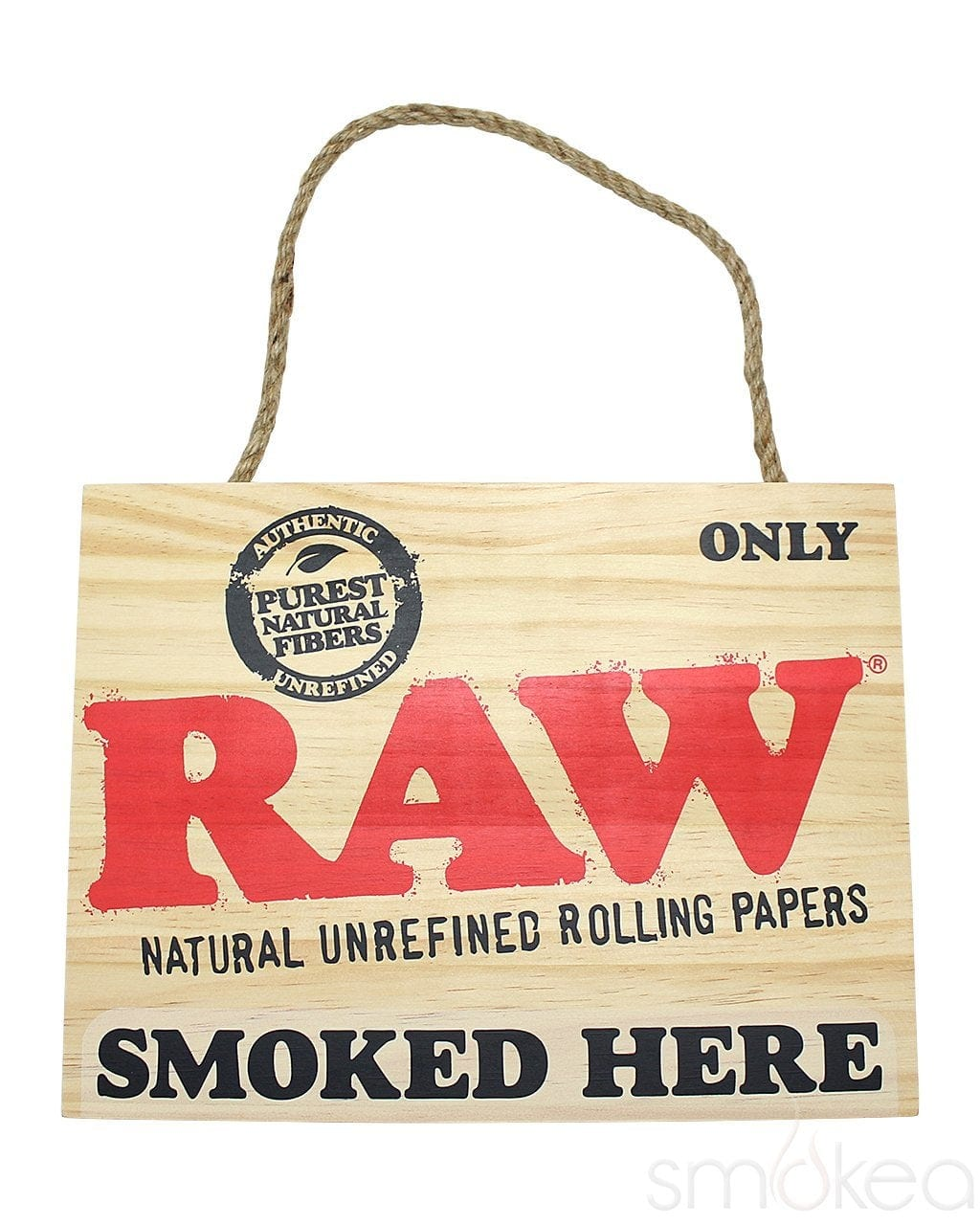 "Raw ""Smoked Here"" Wood Sign - SMOKEA"
