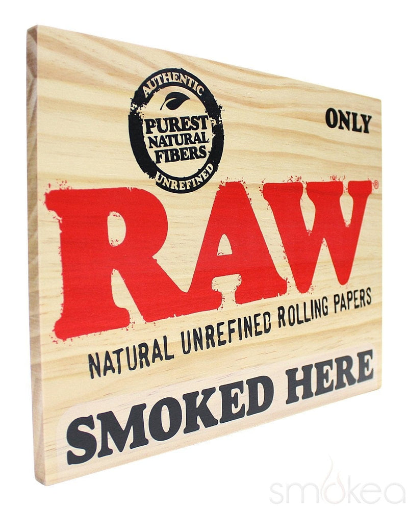 "Raw ""Smoked Here"" Wood Sign - SMOKEA®"