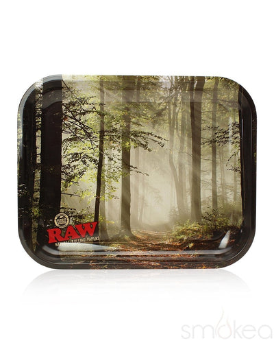 Raw Smokey Trees Large Rolling Tray - SMOKEA