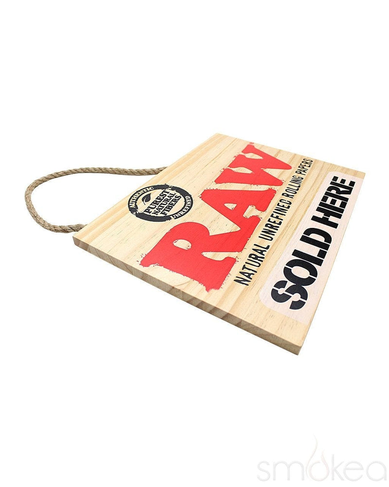 "Raw ""Sold Here"" Wood Sign - SMOKEA®"
