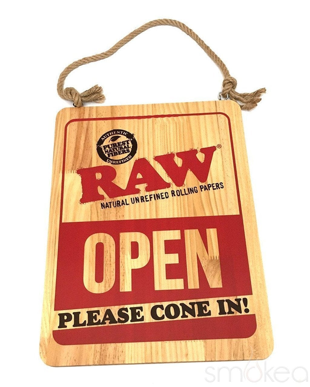 Raw Wood Open/Closed Sign - SMOKEA