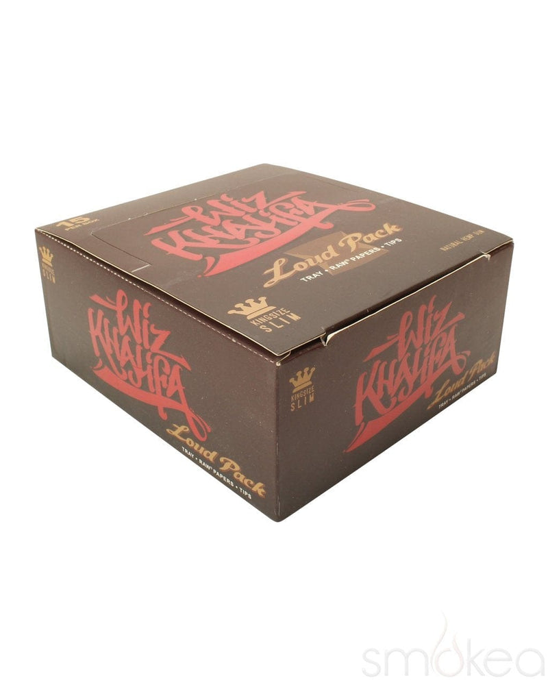 Raw x Wiz Khalifa King Size Loud Pack Rolling Papers w/ Tips - SMOKEA