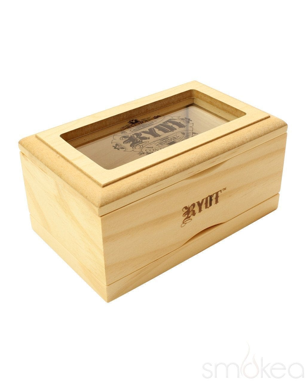 RYOT 3x5 Natural Glass Top Box - SMOKEA
