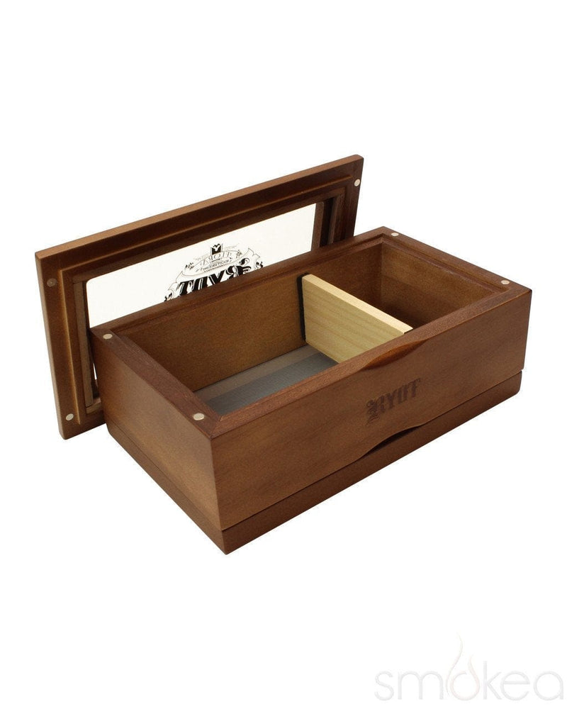 RYOT 4x7 Walnut Glass Top Box - SMOKEA