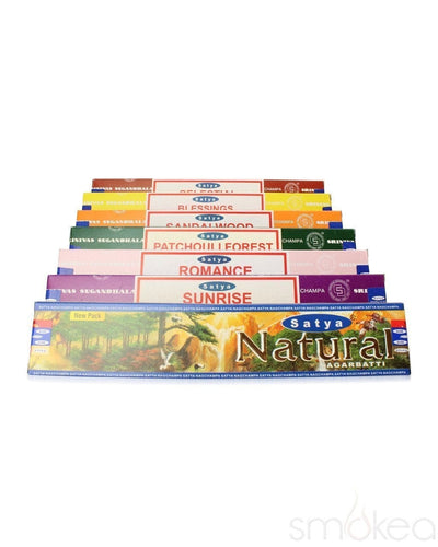 Satya Nag Champa Incense Sticks (15g) - SMOKEA