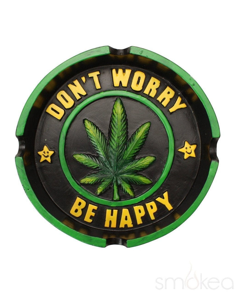 SMOKEA Don't Worry Be Happy Ceramic Ashtray - SMOKEA®