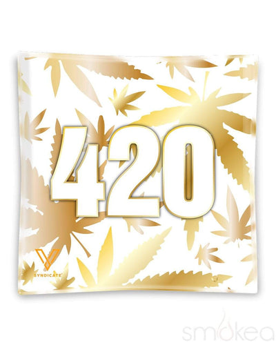 "V Syndicate ""420 Gold"" Glass Ashtray"