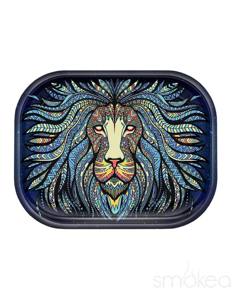 "V Syndicate ""Tribal Lion"" Metal Rolling Tray Small"
