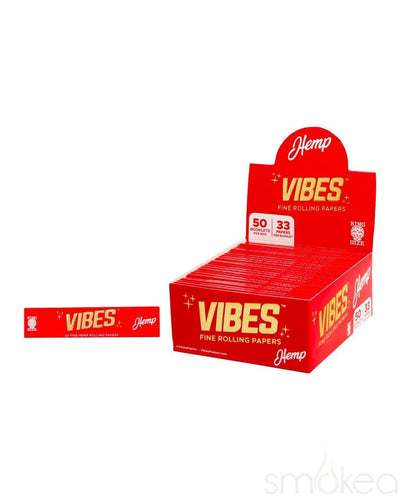 Vibes King Size Slim Hemp Rolling Papers - SMOKEA