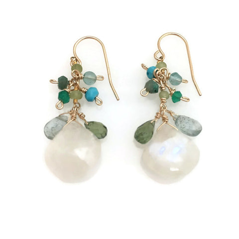 Mustique Moonstone Earrings