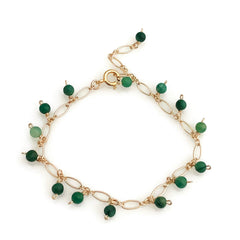Berries Bracelet - african green jade