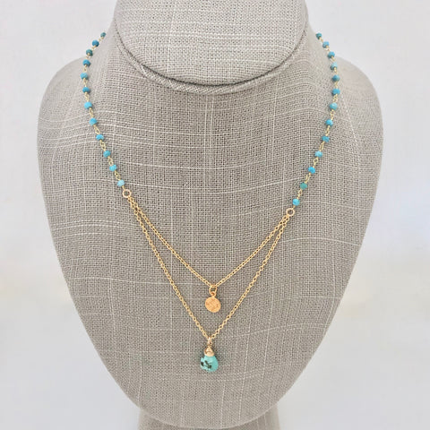 Layered Necklace ~ turquoise
