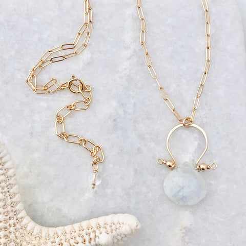 Santorini Moonstone Necklace